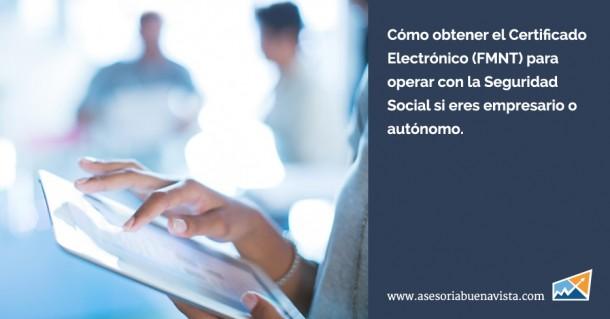Certificado electronico FMNT