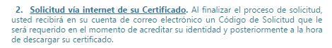 solicitud via internet de su certificado